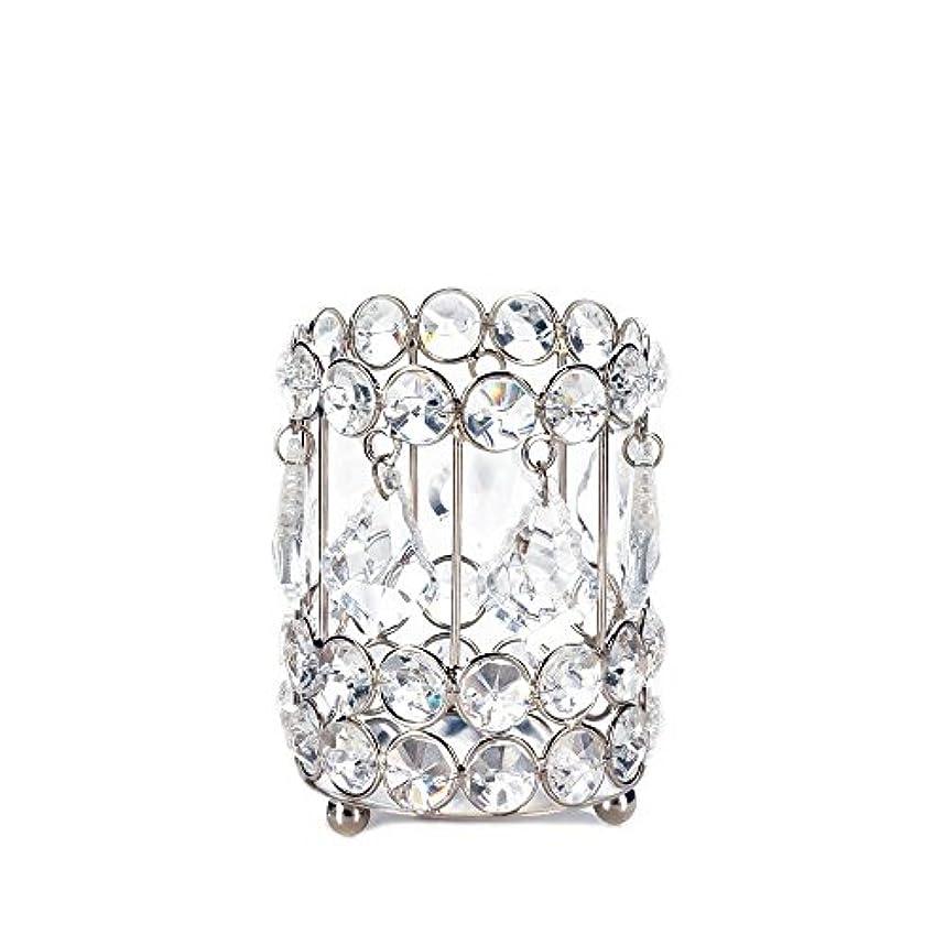 歴史的遠征サスペンドGallery of Light 10018136 Super Bling Crystal Drops Candle Holder - 4 in.