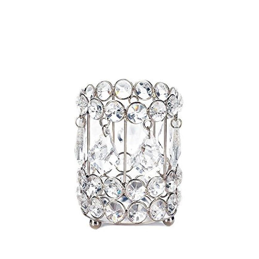 日の出憧れ個人的にGallery of Light 10018136 Super Bling Crystal Drops Candle Holder - 4 in.