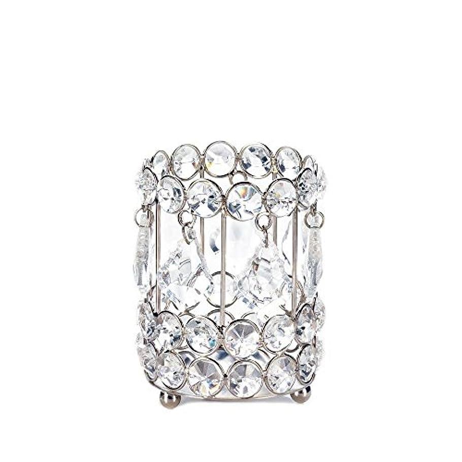 火磁石薄いGallery of Light 10018136 Super Bling Crystal Drops Candle Holder - 4 in.