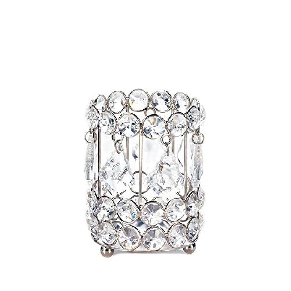 きゅうり目に見える秘密のGallery of Light 10018136 Super Bling Crystal Drops Candle Holder - 4 in.