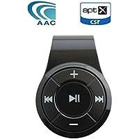 Bluetooth オーディオ レシーバー Bluebyteワイヤレス 受信機 コンパクト 軽量 (10時間連続再生 内蔵マイク CVC6.0 ノイズキャンセリング機能) 3.5 mmステレオ出力 .,最新型CSR8645チップを内蔵し、Bluetooth V4.2をサポートだけでなく、apt-X 、SBC、AACコーデック規格に対応、テレビ、スマホやタブレットなどのデバイスからBluetooth接続で、高音質の音楽が楽しめます。apt-Xは音声遅延を極限まで抑え、TV/映画/ビデオの音声を、違和感なく視聴することができます。 (ブラック)