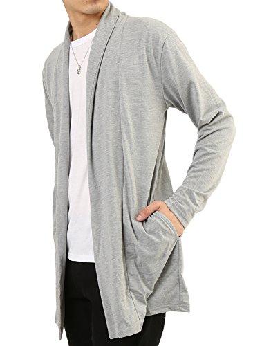 (アーケード) ARCADE メンズ ロングカーデ Tシャツ 2枚セット アンサンブル ロングコーディガン Tシャツ カーディガン