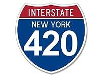 I - 420新しいYork Sign Shapedステッカー( Pot Marajuana )
