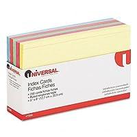 インデックスカード, 5x 8,ブルー/サーモン/グリーン/チェリー/カナリア、1パック250–: -の2パックとして販売–100- /–Total of 200各