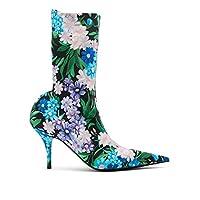 (バレンシアガ) Balenciaga レディース シューズ・靴 ブーツ Wild flower-printed knife bootie [並行輸入品]