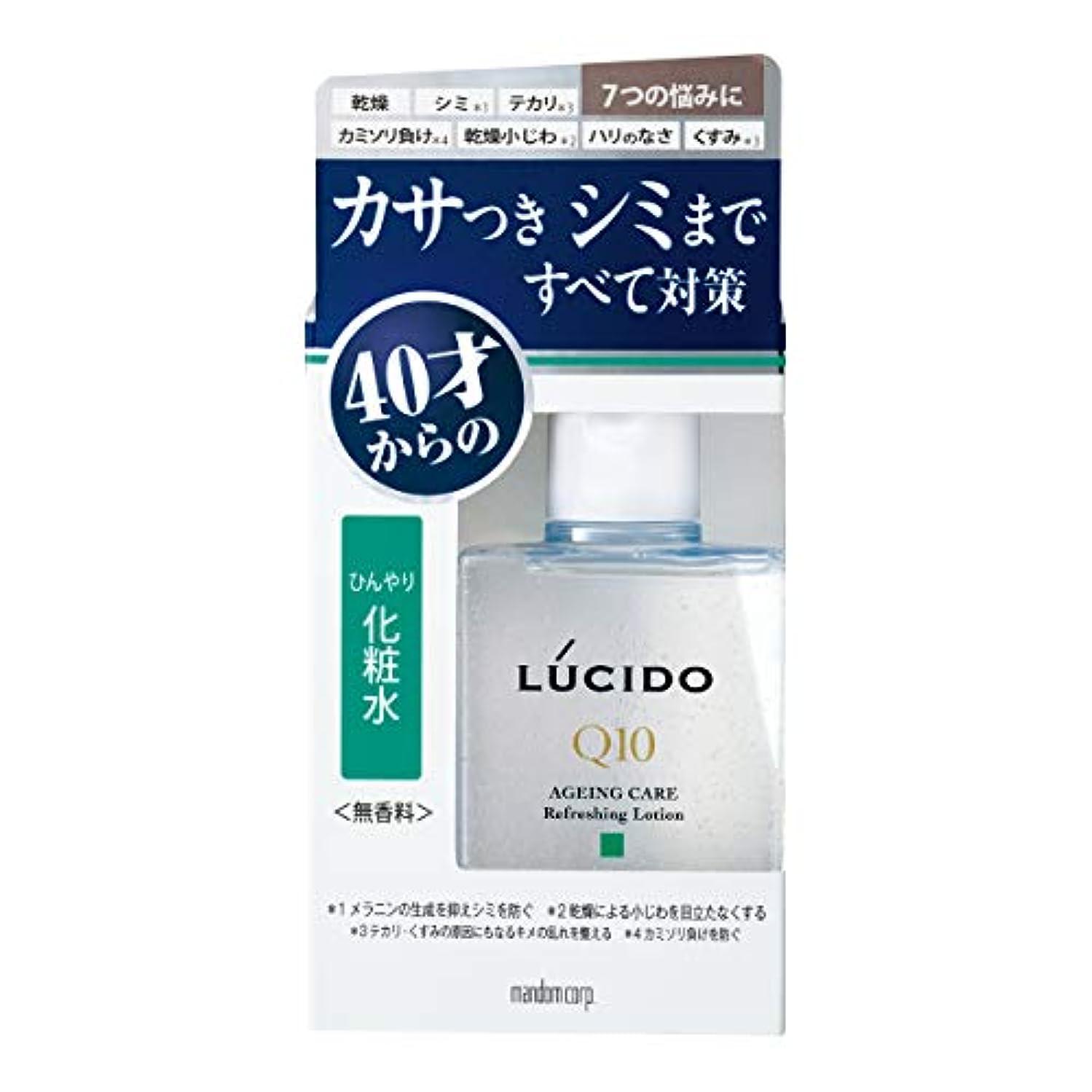 栄光容量ボトルネックルシード(LUCIDO)薬用 トータルケアひんやり化粧水 メンズ スキンケア さっぱり 110ml(医薬部外品)
