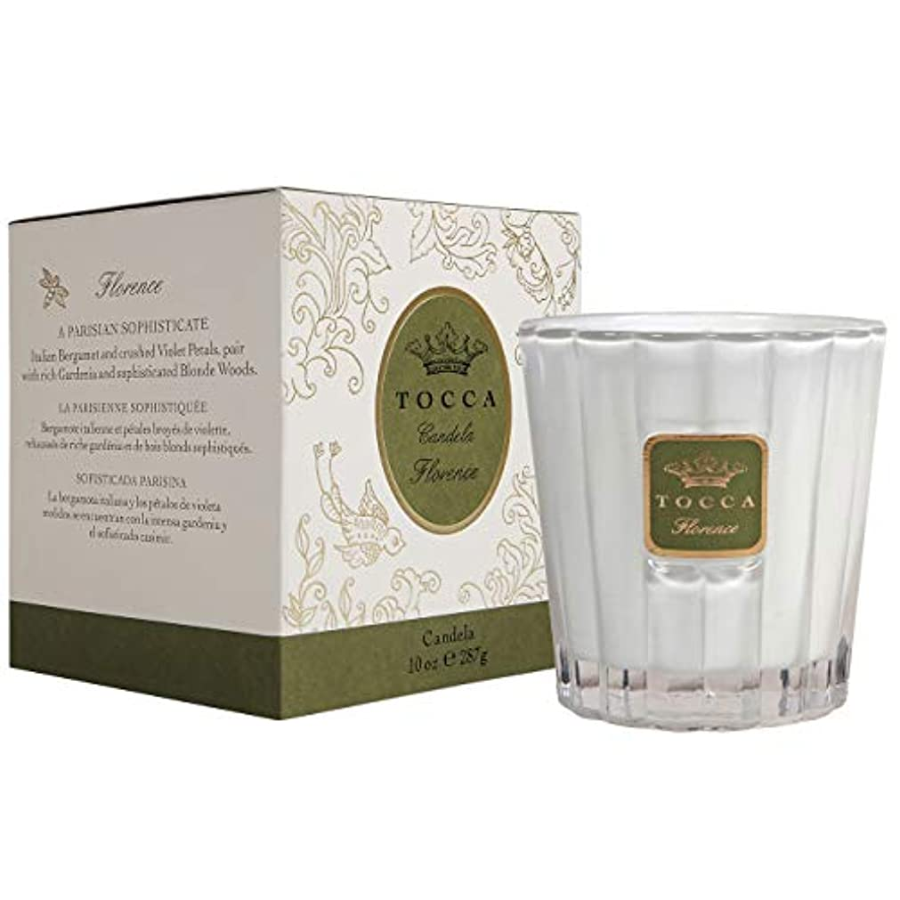 リラックスライセンス透明にトッカ(TOCCA) キャンドル フローレンスの香り 約287g (ろうそく 上品なフローラルの香り)