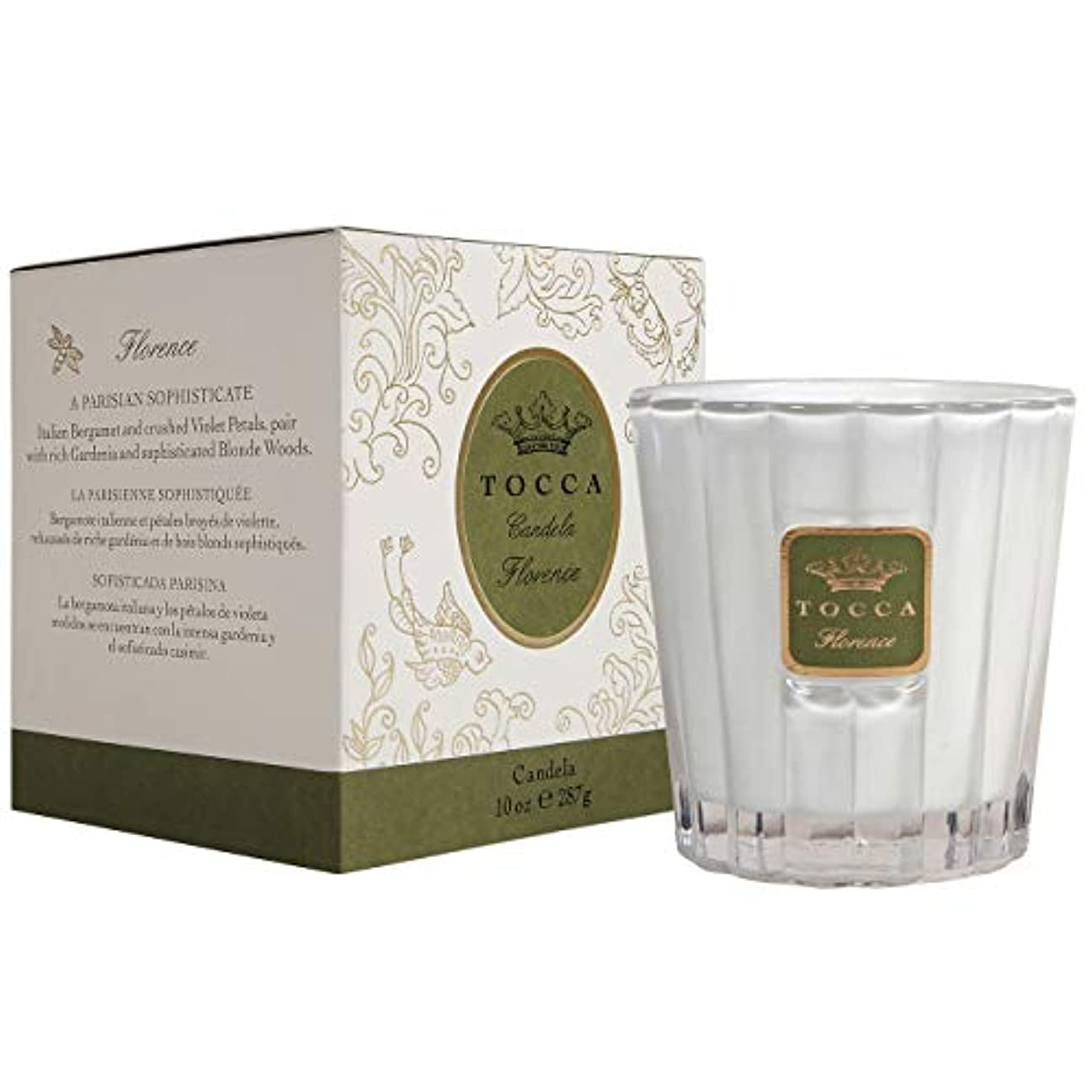 予見する拍手するポンドトッカ(TOCCA) キャンドル フローレンスの香り 約287g (ろうそく 上品なフローラルの香り)