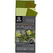 Lia Griffith Double Sided Crepe Paper Folds Roll, 6.7-Square Feet, Green Tea and Cypress, Ferns and Moss (LG11023)
