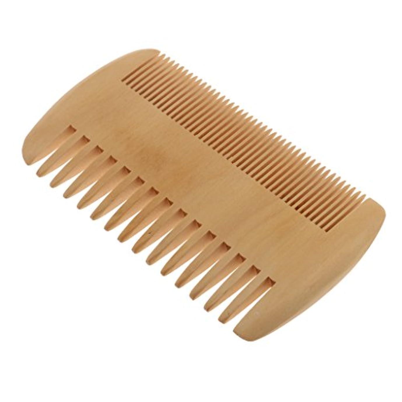 オン劣る尋ねるハンドメイドの自然なモモ材長いおよび短いひげのための静的なくしのポケット無し滑らかな先端の毛のマッサージのブラシ