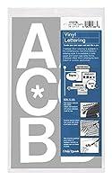 (3 Inches High, White) - Chartpak Self-Adhesive Vinyl Capital Letters, 7.6cm High, White, 50 per Pack (01076)