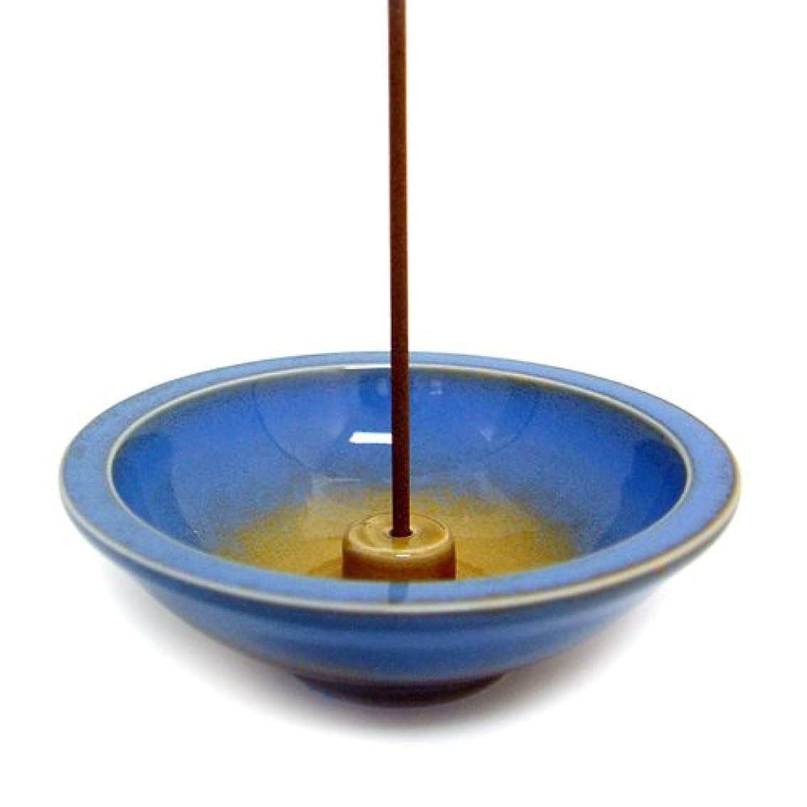 Shoyeido's Azure Round Ceramic Incense Holder by SHOYEIDO