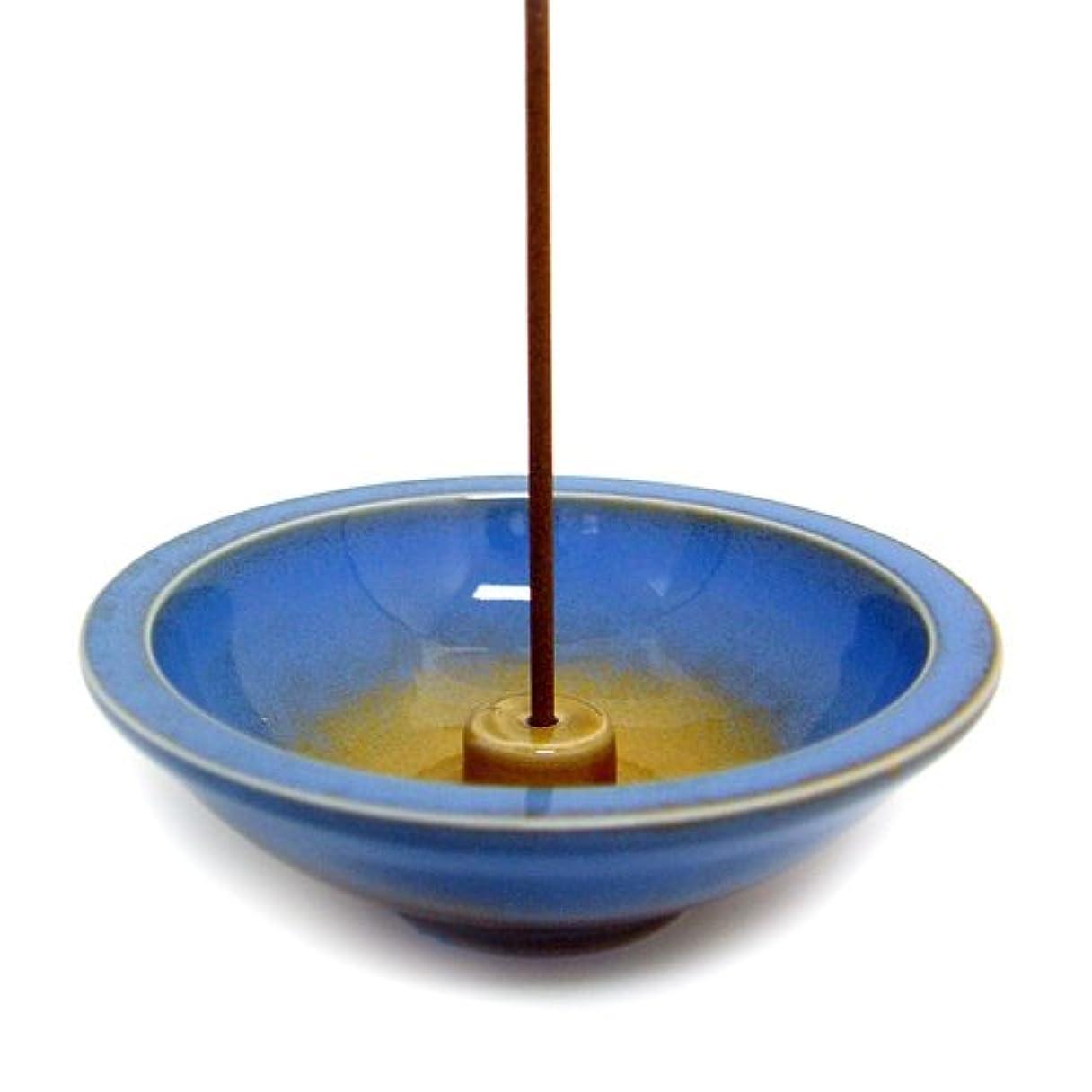 インサート新しい意味牛肉Shoyeido's Azure Round Ceramic Incense Holder by SHOYEIDO