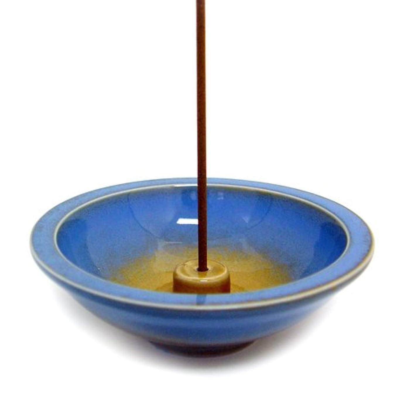 海岸起きる個性Shoyeido's Azure Round Ceramic Incense Holder by SHOYEIDO