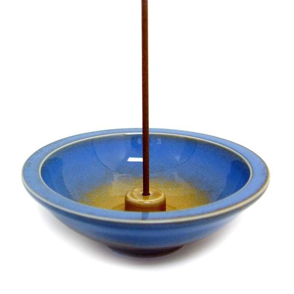 蒸留する空洞悲惨なShoyeido's Azure Round Ceramic Incense Holder by SHOYEIDO