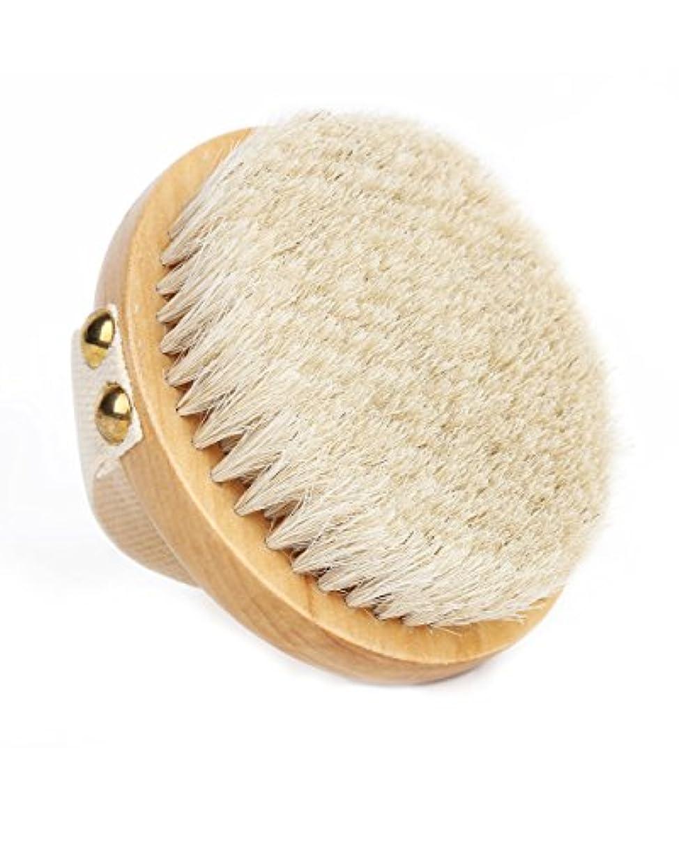 要件警戒乳白Orienex ボディブラシ 高級な馬毛100% 角質除去 全身マッサージ 背中 バス用品 お風呂用 美肌