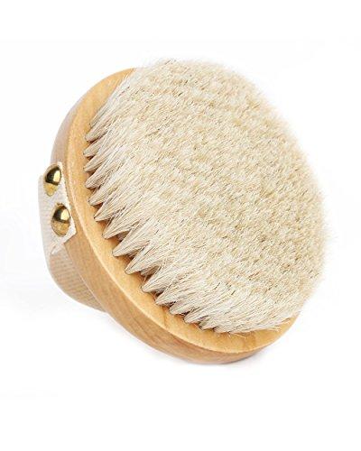 Orienex ボディブラシ 高級な馬毛100% 角質除去 全身マッサージ 背中 バス用品 お風呂用 美肌 柔らかい