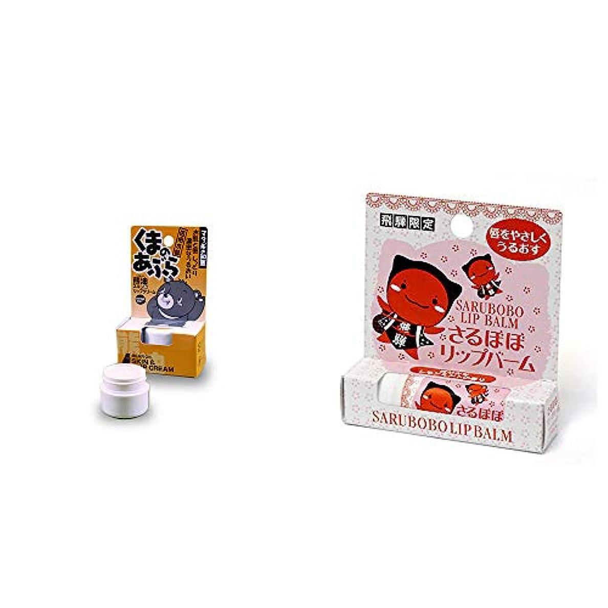 ランクアルバニー子供時代[2点セット] 信州木曽 くまのあぶら 熊油スキン&リップクリーム(9g)?さるぼぼ リップバーム(4g)