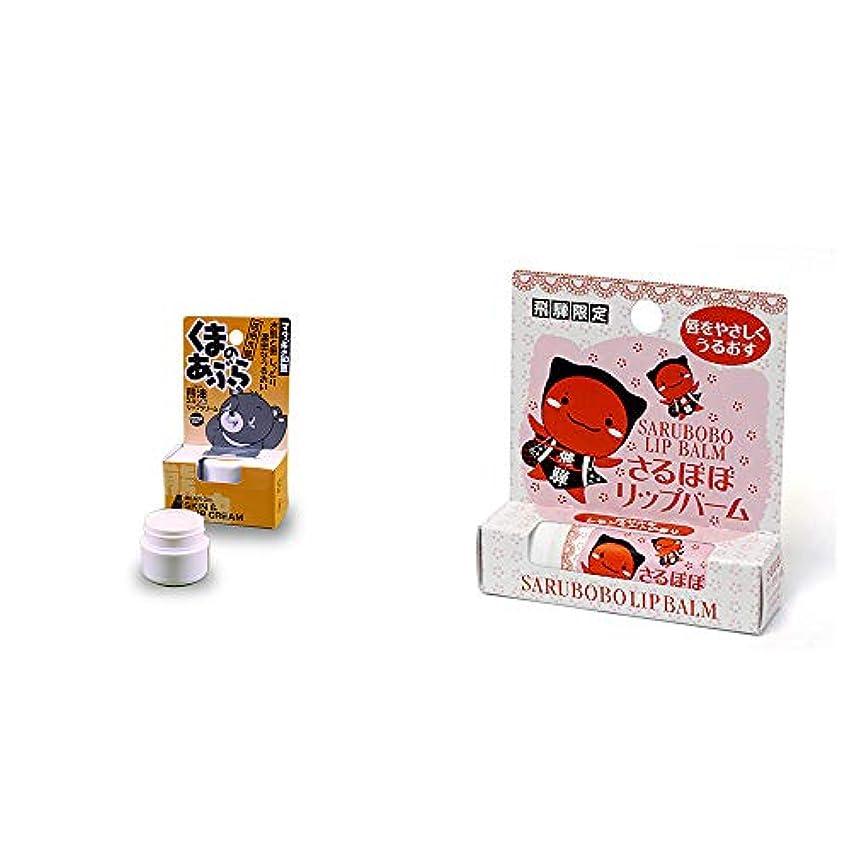 トロイの木馬雪の潤滑する[2点セット] 信州木曽 くまのあぶら 熊油スキン&リップクリーム(9g)?さるぼぼ リップバーム(4g)