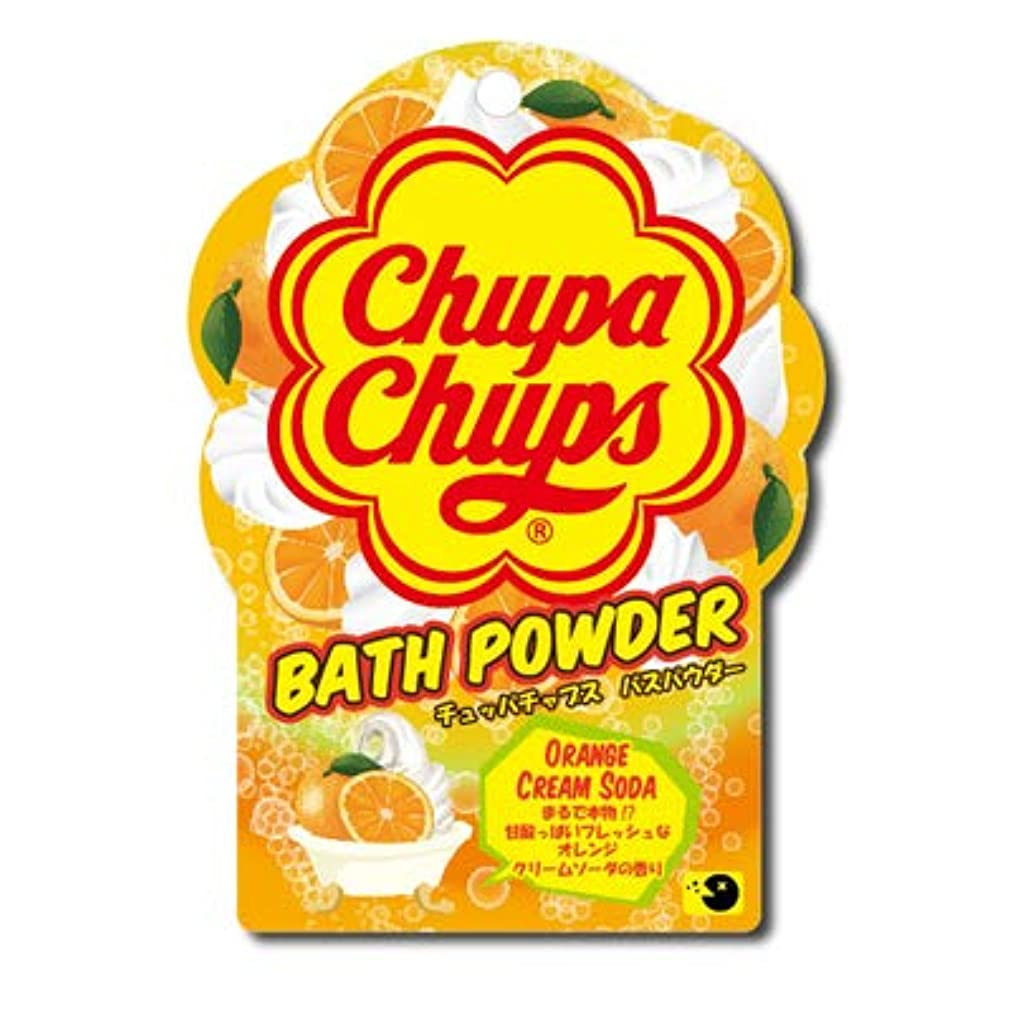 電極提供された祈る【まとめ買い3個セット】 チュッパチャプスバスパウダー オレンジクリームソーダ