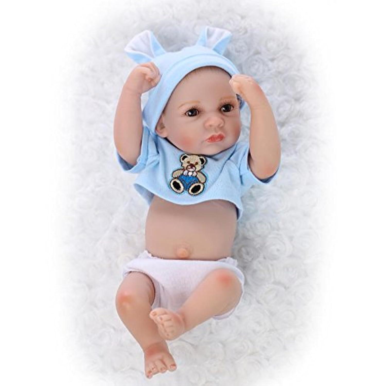 Nicery 生まれ変わった赤ちゃん人形おもちゃハードシミュレーションシリコンビニール10インチ26cm防水おもちゃとギフト Reborn Baby Doll NPK26001-1
