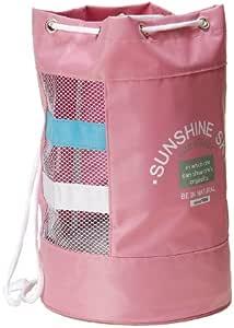 [アイセック] スイミングバッグ メッシュ型 キッズ プールバッグ (ピンク #0051)