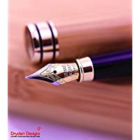 Dryden Design 万年筆 細字 竹製 高級 天然素材 ケース付き 書きやすい 滑らか オフィス用品 ギフト、プレゼント 記念 お祝い 母の日 父の日 お誕生日 (Bamboo)