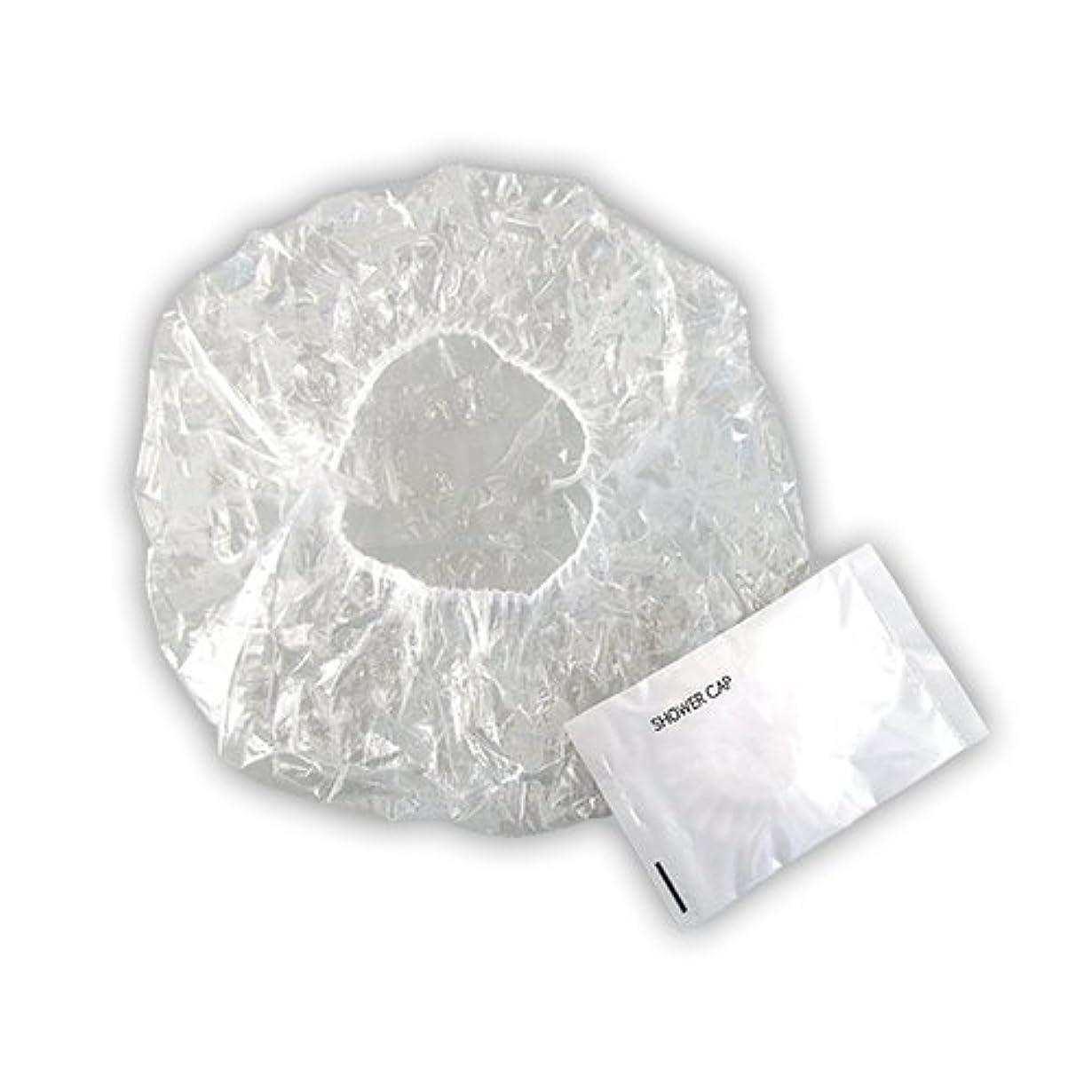 顎浅い密接に使い捨て シャワーキャップ 業務用 個包装タイプ ×50個セット|ホテルアメニティ (SHOWER CAP)