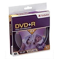 Verbatim 10pk DVD + R 4.7GB 8xブランド(94851)