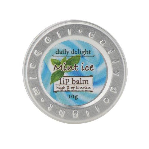 デイリーディライト リップバーム ミントアイス 10g(リップクリーム 缶入り 唇用保湿クリーム スーッと清涼感あふれるミントの香り)