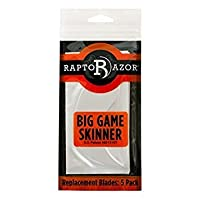 Raptorazor Big Game Skinner Package of 5 Replacement Blades by Raptorazor