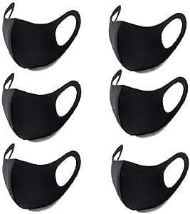 Orient Direct マスク 個包装 黒 花粉症対策 快適ガードマスク 水洗い可能 繰り返し使える おしゃれ 通気性 風邪 pm2.5対応 男女兼用 ブラック 6枚セット