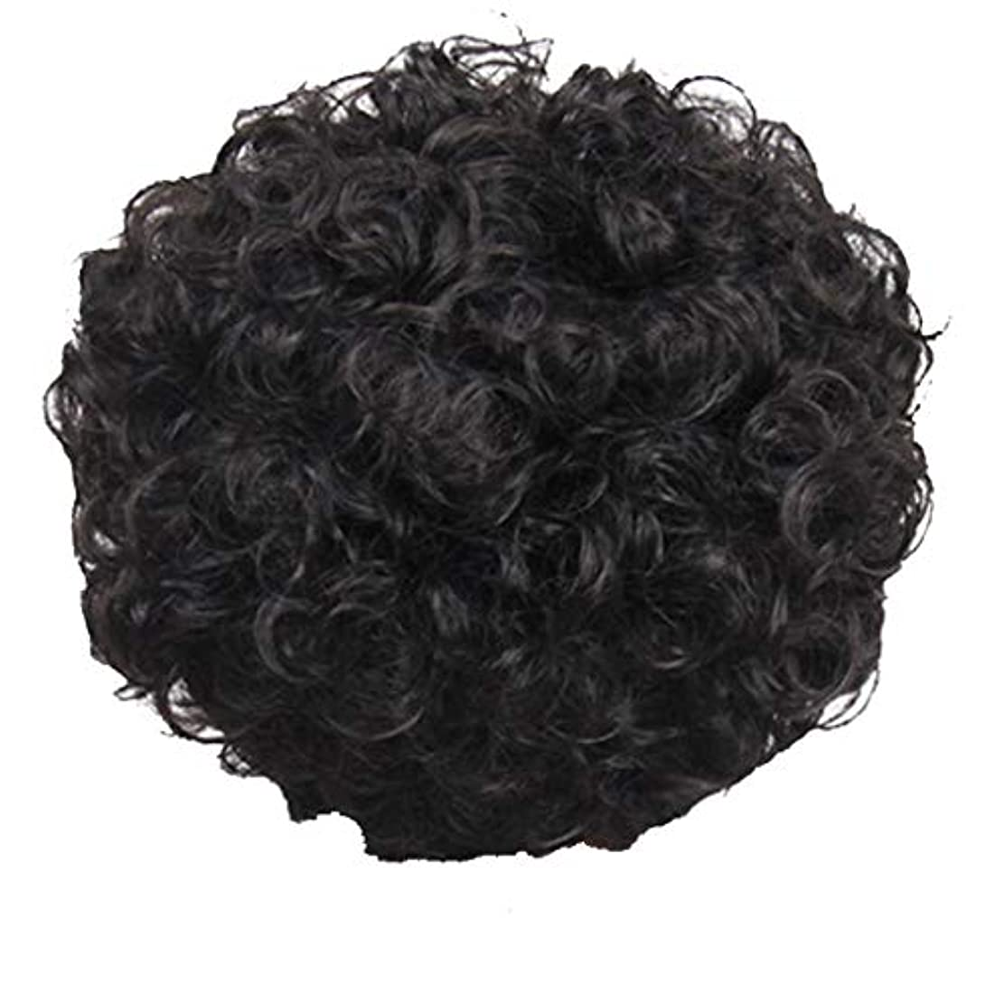 深い約設定奴隷かつら、女性、短い髪、巻き毛、かつら、エルフカット、かつらキャップ、27cm