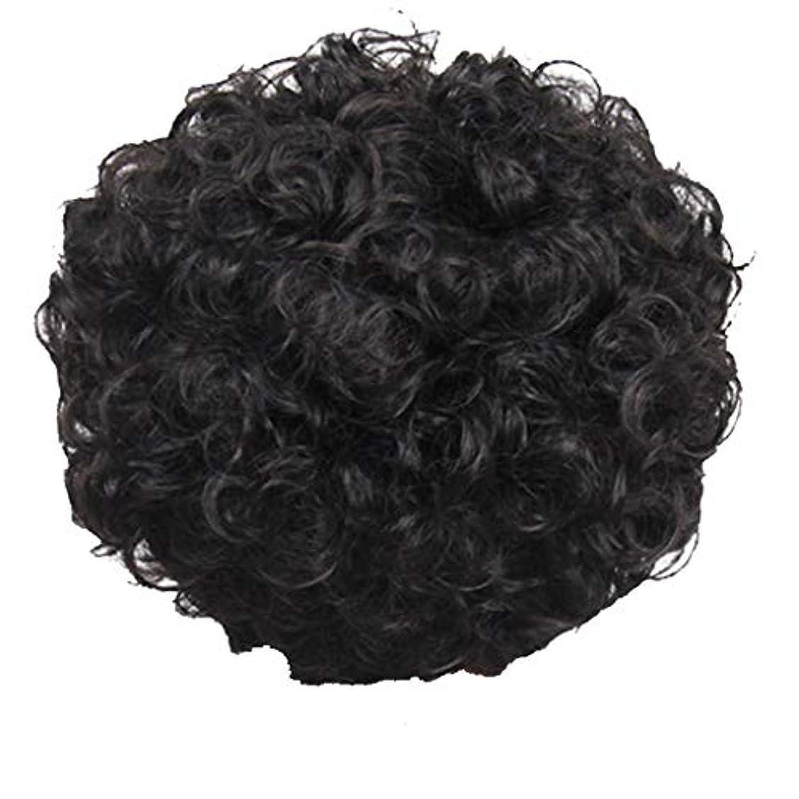 人里離れた珍しい適用するかつら、女性、短い髪、巻き毛、かつら、エルフカット、かつらキャップ、27cm