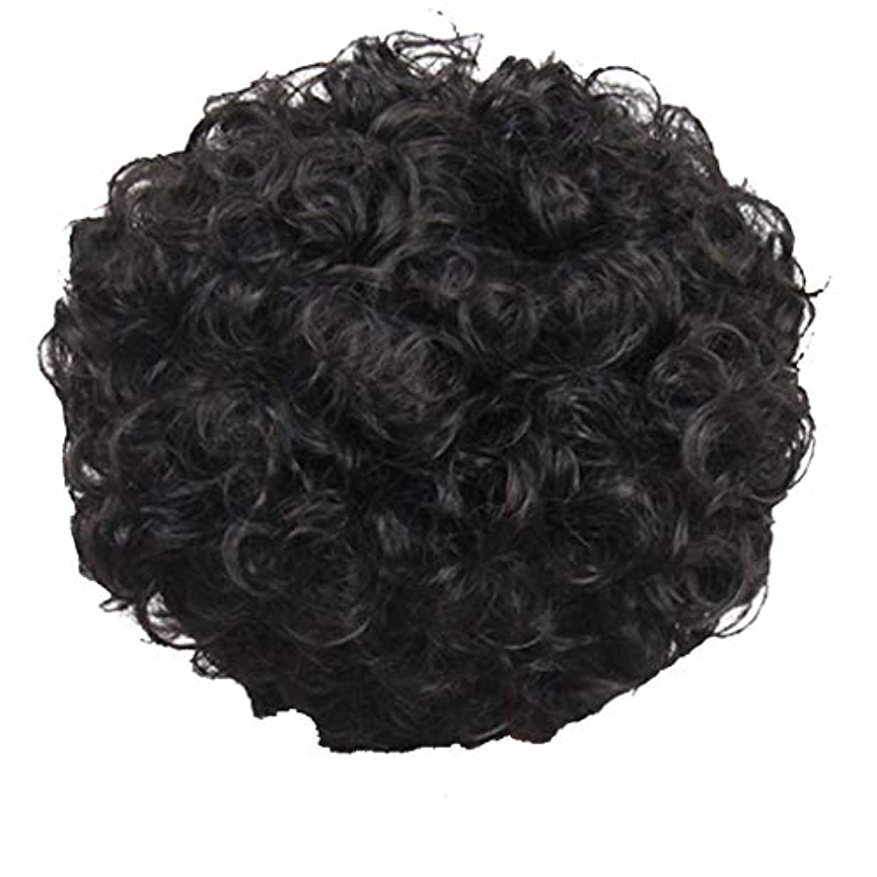 失効敵寄稿者かつら、女性、短い髪、巻き毛、かつら、エルフカット、かつらキャップ、27cm