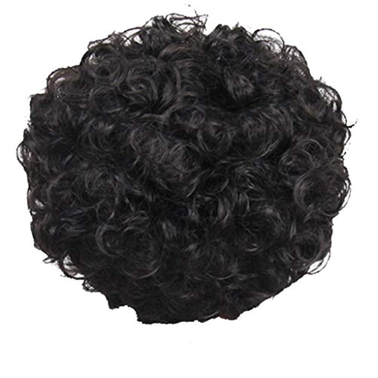 シンク飢ワックスかつら、女性、短い髪、巻き毛、かつら、エルフカット、かつらキャップ、27cm