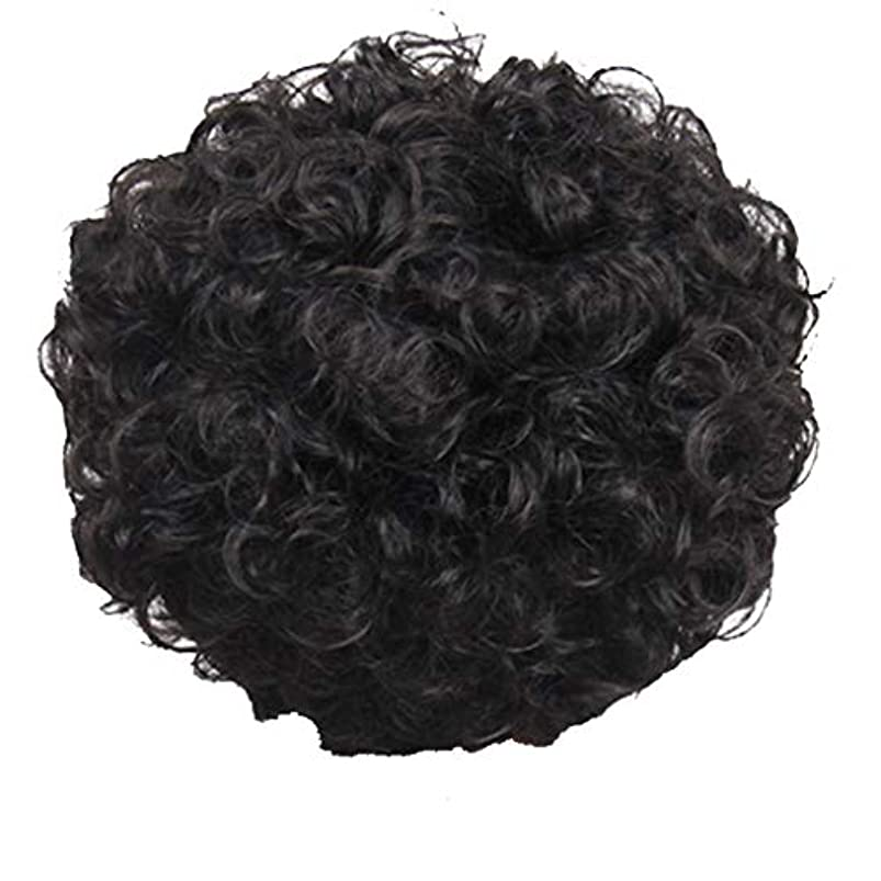 廃棄する簡単な外部かつら、女性、短い髪、巻き毛、かつら、エルフカット、かつらキャップ、27cm