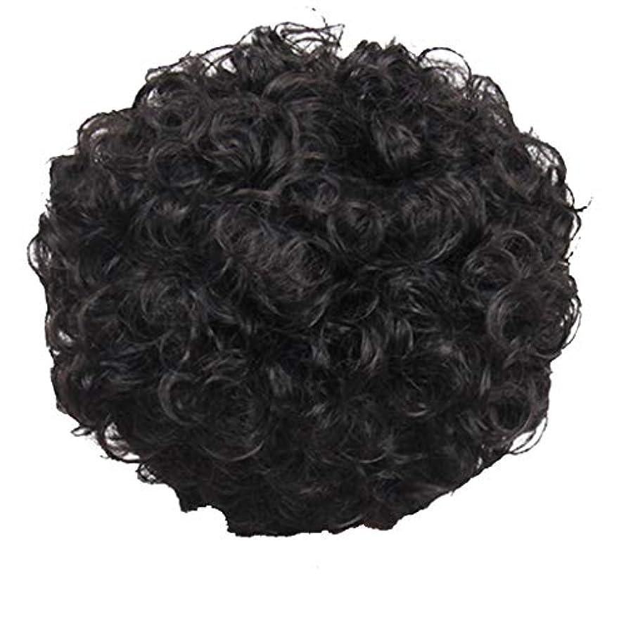 正午圧縮ペインかつら、女性、短い髪、巻き毛、かつら、エルフカット、かつらキャップ、27cm