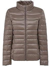 Honour Fashion ダウンジャケット レディース 軽量 ショート 暖かい ウルトラライト コンパクト収納