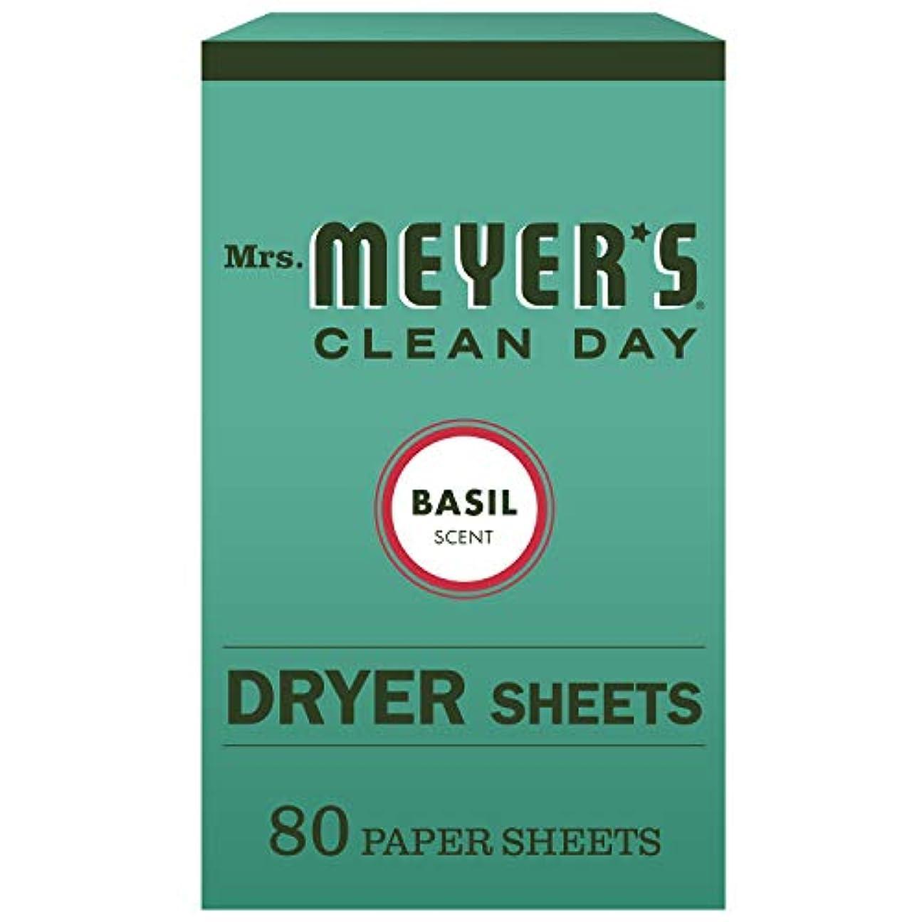 シニス恥ずかしいひもMrs. Meyer's Clean Day Dryer Sheets, Basil, 80 Count by Mrs. Meyer's Clean Day