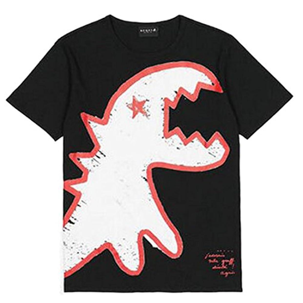 暖かく障害者採用するSPORT B アニエスベー メンズ Tシャツ 半袖 カットソー ロゴTシャツ HOMME コットン100%  agnes b. 黒 白 ショップバッグ付き