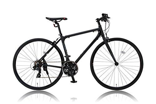 【完成車 組立済み】 CANOVER(カノーバー) クロスバイク 700×25C CAC-021 VENUS(ビーナス) 特殊加工(バフ研磨)アルミフレーム フレームサイズ470mmサイズ シマノ21段変速ラピッドファイヤー LEDライト標準装備 重量:11.2Kg ブラック