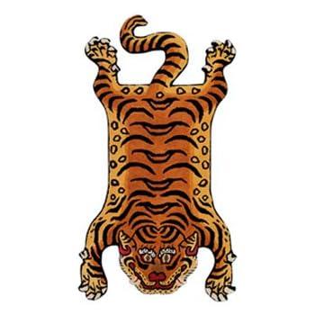 チベタンタイガーラグ スモール DETAIL Tibetan Tiger Rug [ DTTR-02 / Sサイズ ]