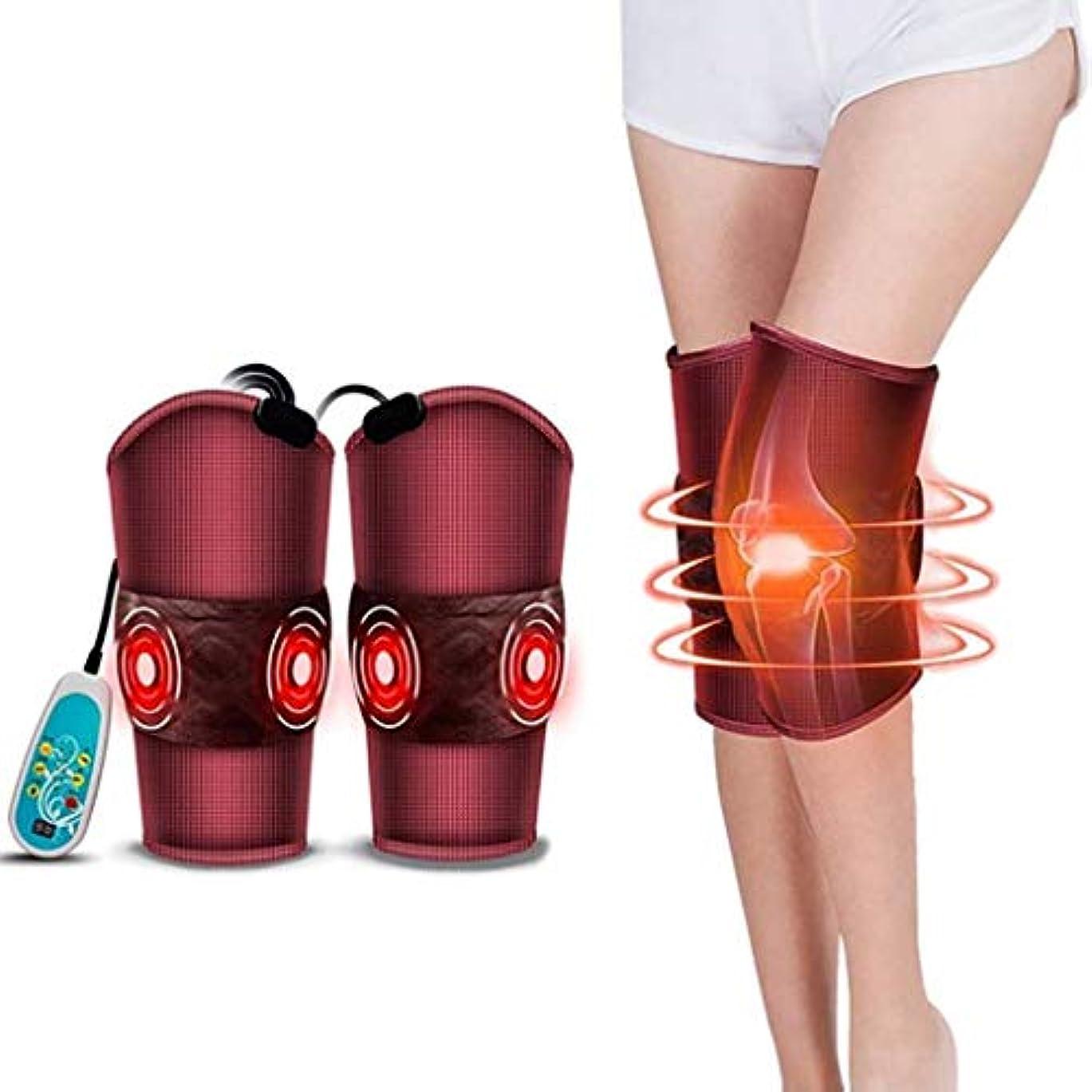 安全でない参加する食用電気マッサージ器、膝温/膝振動加熱マッサージ器、ウエスト/脚/膝の痛みを和らげる