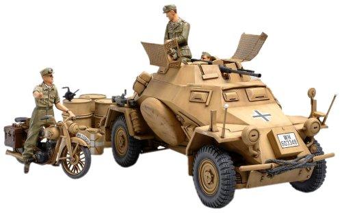 タミヤ 1/35 ミリタリーミニチュアシリーズ No.286 ドイツ陸軍 4輪装甲偵察車 Sd.Kfz.222 北アフリカ戦線 プラモデル 35286