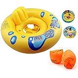 子供用 浮き輪 足入れ うきわ ベビー アームリング 付きスイミング トレーニング 浮輪 水遊び 水泳 プール スイム リング 海 用 by Kungfu Mall