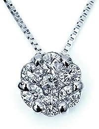ダイヤモンド フラワー ギフト プラチナ ダイヤモンド 7石 ボリューム ペンダント Pt900 フラワーモチーフ 0.3カラット 花形 ダイヤモンド ネックレス Pt850 ベネチアンチェーン 45cm