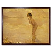 Chabas September Morn Nude Painting Art Print Framed Poster Wall Decor 12x16 inch ペインティングポスター壁デコ