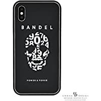 BANDEL バンデル【iPhoneX 対応】シリコンケース・メタリックプレートシリーズ・正規品・パワー加工 (ブラック×ホワイトスカル) SKL-BKWH