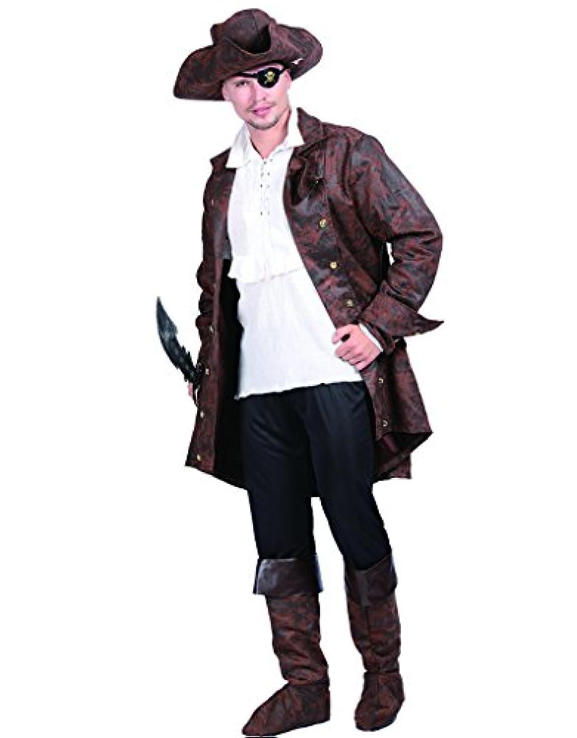 EraSpooky 大人 海賊 船長 全身セット 5点 ハロウイン コスプレ コスチューム